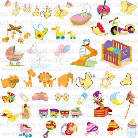 Cliparts Baby und Kinder