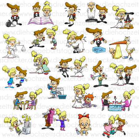 Hochzeit-Cartoon Cliparts