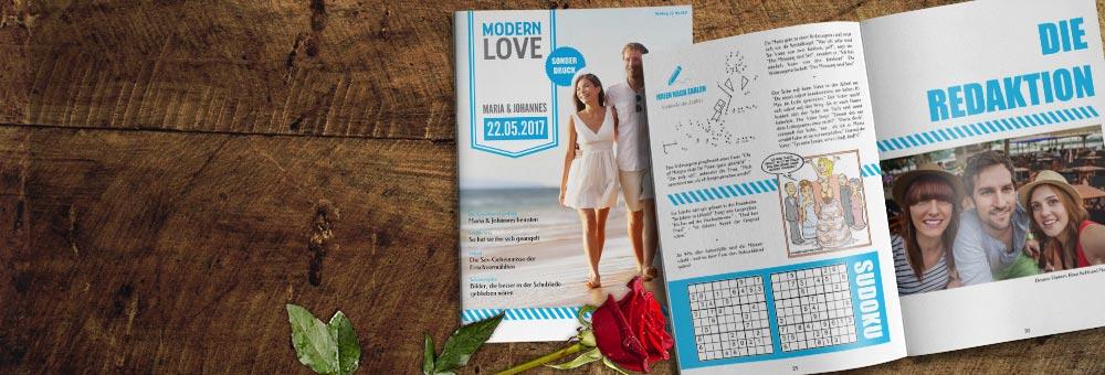 Individuelle Hochzeitszeitungen gestalten